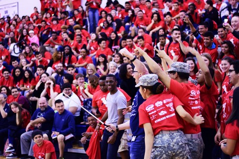 Second pep rally of the year moved indoors due to weather