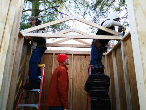 Gallery: Habitat for Humanity club builds shed