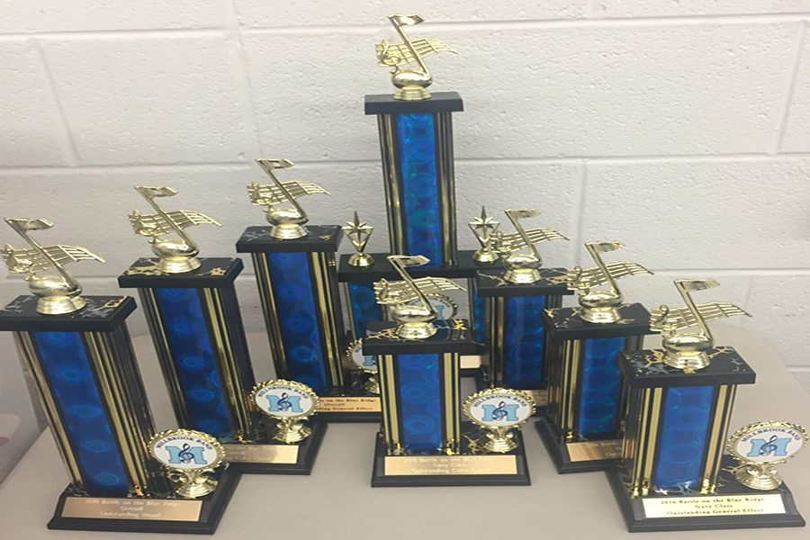 Marching band performs at Millbrook competition