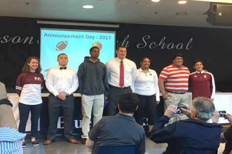 Seniors commit to playing sports in college