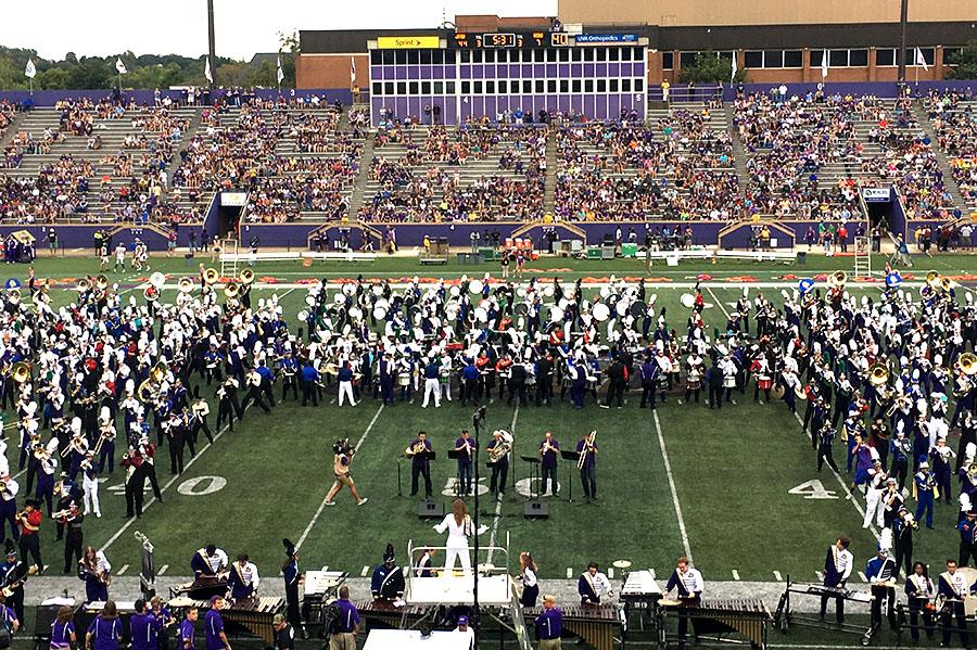 Students find different reasons to participate in JMU Band Day