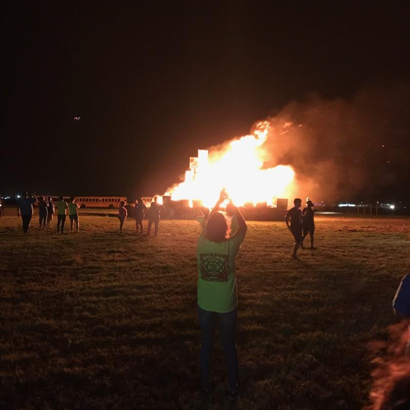 0d668daf1b The bonfire that kicks off homecoming week for RFHS blazes. Each year