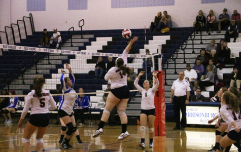 Varsity volleyball beats William Fleming in three sets
