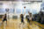 Varsity girls basketball warms up before their game