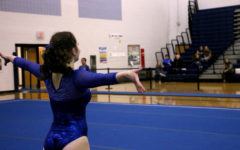Gymnastics team celebrates only senior