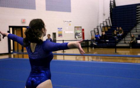 Gymnastics team celebrates only senior