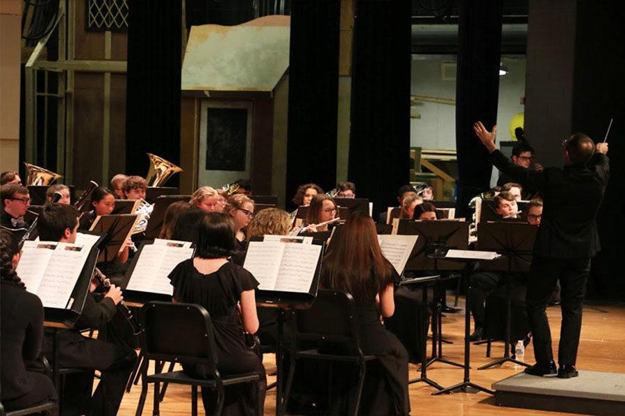 District 5 bands perform after intensive days of rehearsal
