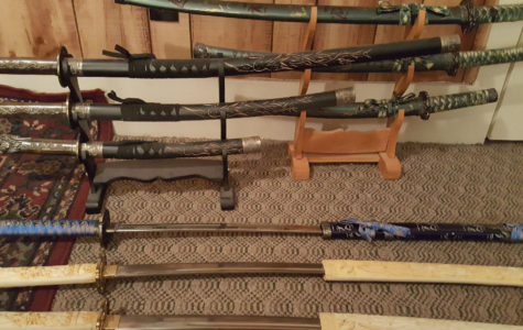 Andrews collects variety of swords