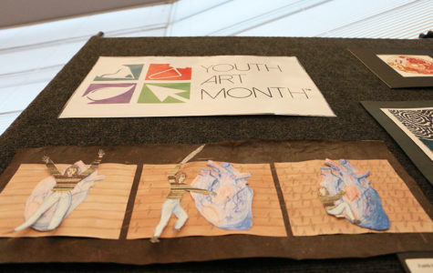 Youth art month takes place in library