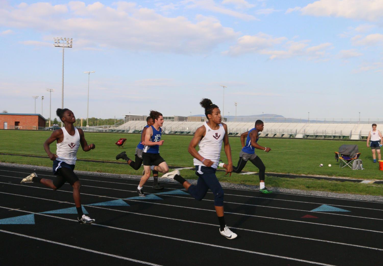 Track team celebrates seniors at JV meet